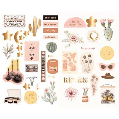 Golden Desert kollekció - Chipboard szett – 42db