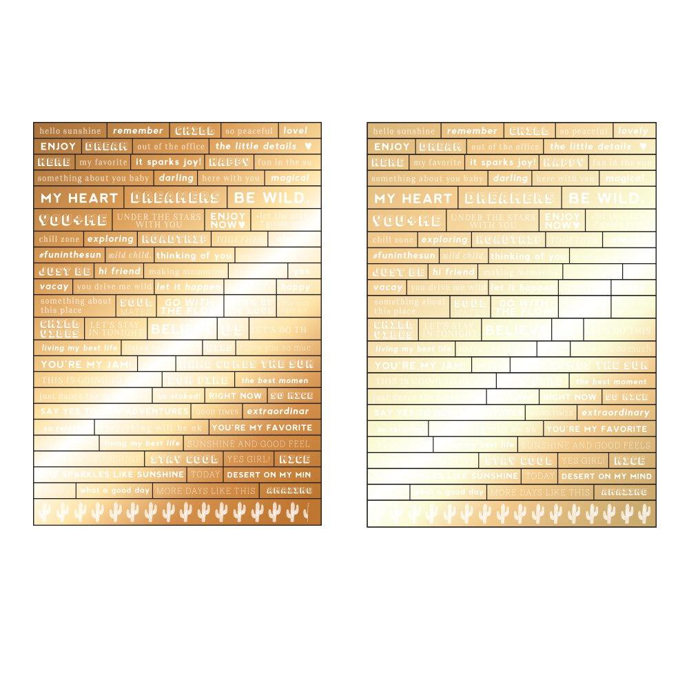 Golden Desert kollekció - Word Stickers 2ív