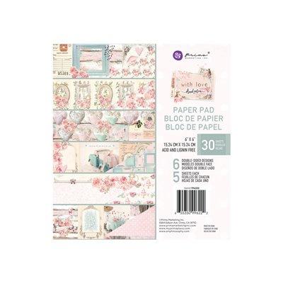 With Love kollekció 6×6 paper pad – 6″ x 6.5″, 30 lap
