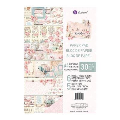 With Love kollekció A4 paper pad – 27 lap
