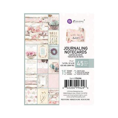 """With Love kollekció 3x4"""" Journaling Cards - 3x4"""" , 45 lap"""