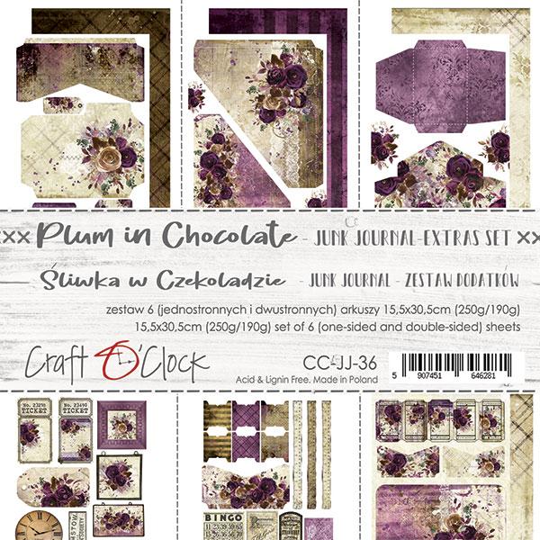 Plum In Chocolate - Junk Journal kivágóív szett