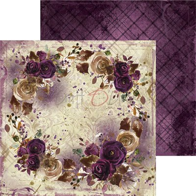 Plum In Chocolate - papírkészlet 15,25 x 15,25 cm