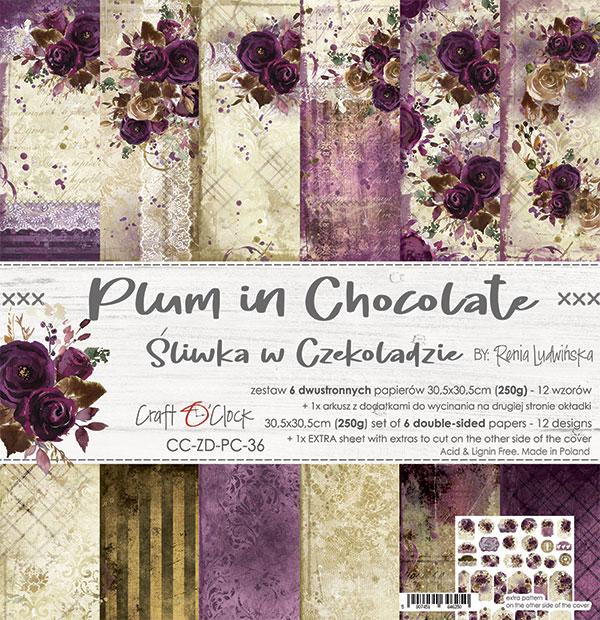 Plum In Chocolate - papírkészlet 30,5x30,5cm