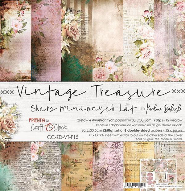 Vintage Treasure - papírkészlet 30,5x30,5cm