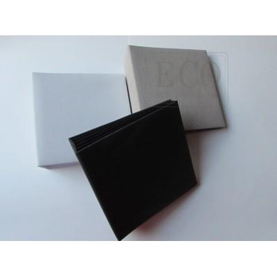 Fekete 3D album vászon borítással - 20x20 cm, 6 lapos