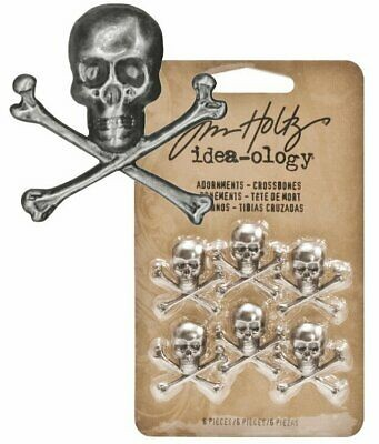 Tim Holtz Idea-ology Adornments Crossbones (6 db)