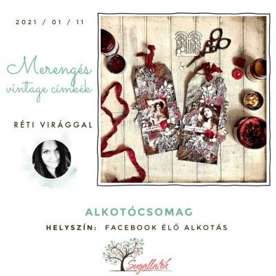 Merengés - vintage címkék - ALKOTÓCSOMAG (FB élőhöz)