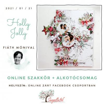 Holly Jolly - karácsony rétegelt lemezen - ONLINE SZAKKÖR + ALKOTÓCSOMAG