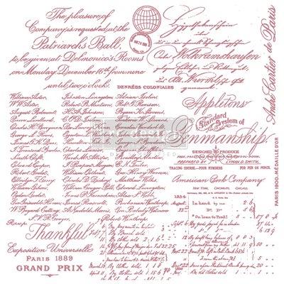 Prima Re-Design Decor Stamps - Handwritten Note
