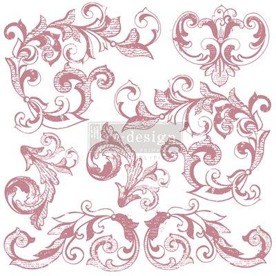 Prima Re-Design Decor Stamps - Elegant Scrolls