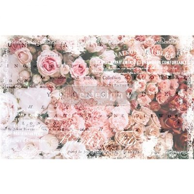 Re-Design with Prima Angelic Rose Garden 19x30 Inch  decoupage papír