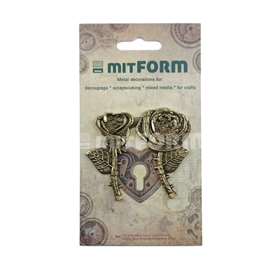 Mitform Flowers 1 Metal Embellishments