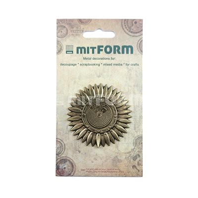 Mitform Flowers 3 Metal Embellishments