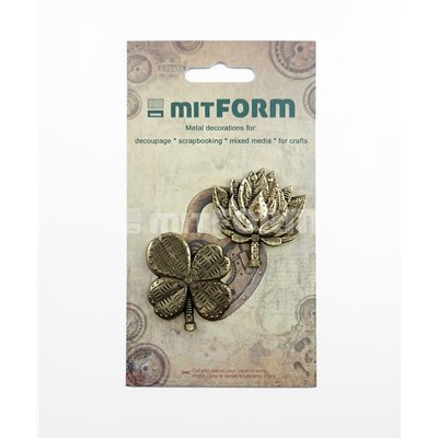 Mitform Flowers 5 Metal Embellishments