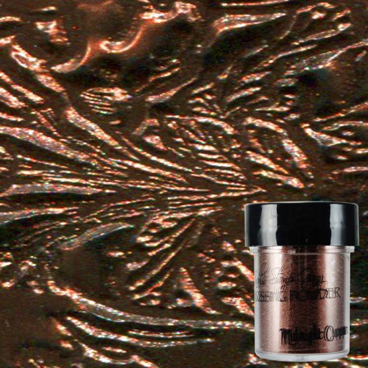 Lindy\'s Stamp Gang Midnight Copper Obsidian Embossing Powder