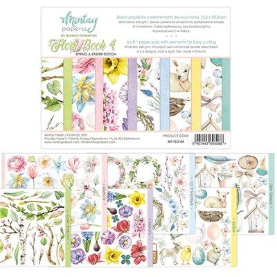 """Flora Book 4 - 6""""x8""""-as kivágóív kollekció"""