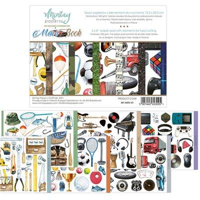 """Men's Book  - 6""""x8""""-as kivágóív kollekció"""