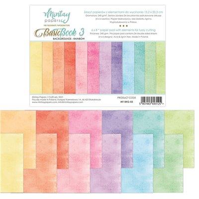 """Basic Book - Rainbow - 6""""x8""""-es háttérpapír kollekció"""