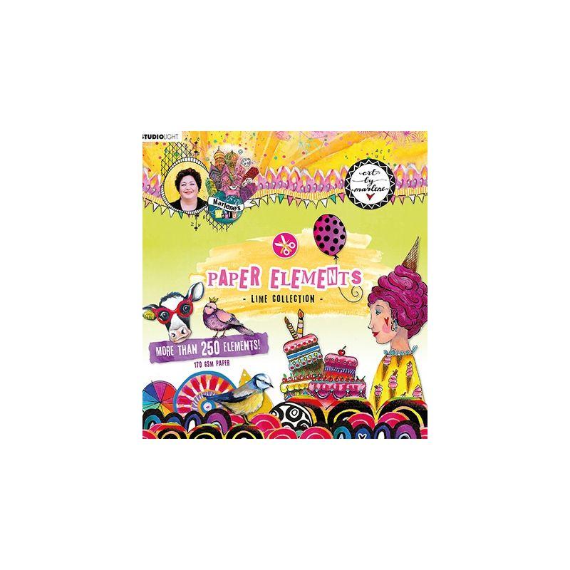 Art by Marlene - Paper Elements Mint - kívágóív szett des.3