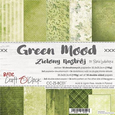 Green Mood - Basic set - papírkészlet 20,3 x 20,3 cm