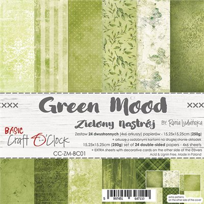 Green Mood - Basic set - papírkészlet 15,25 x 15,25 cm