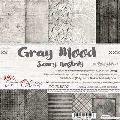 Grey Mood - Basic set - papírkészlet 20,3 x 20,3 cm