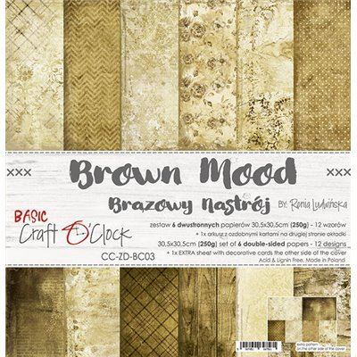 Brown Mood - Basic set - papírkészlet 30,5x30,5cm