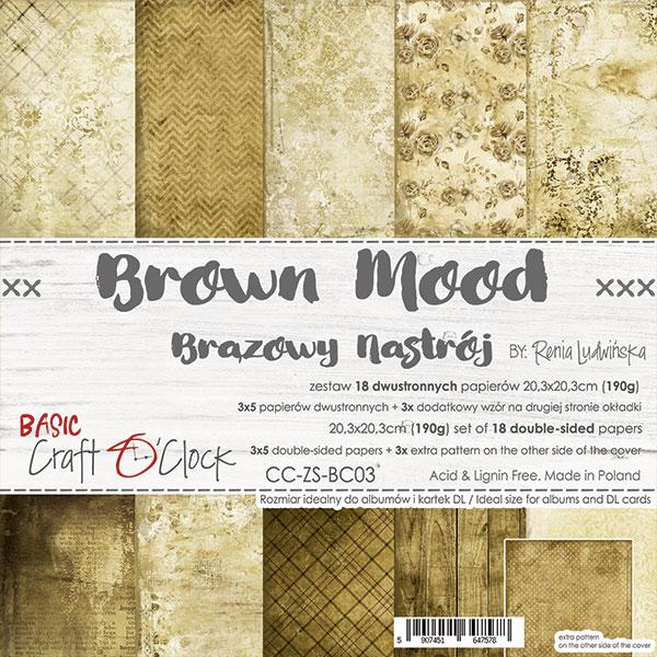 Brown Mood - Basic set - papírkészlet 20,3 x 20,3 cm