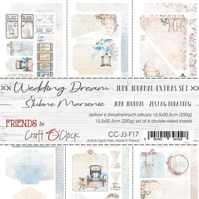 Wedding Dream - Junk Journal kivágóív szett