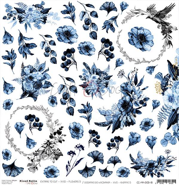 Mixed Media Flowers - XVIII kivágóív