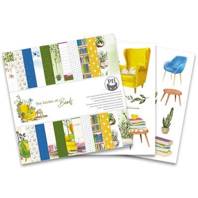 """Garden of Books - 6""""-es kollekció (24 db 2 oldalas papír + 2 db kivágóív)"""