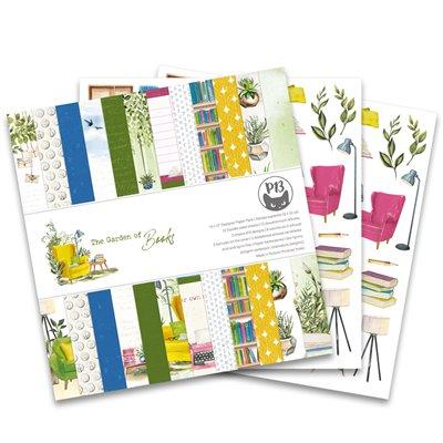 """Garden of Books - 12""""-es mini kollekció (6 db 2 oldalas papír + 1 db kivágóív)"""