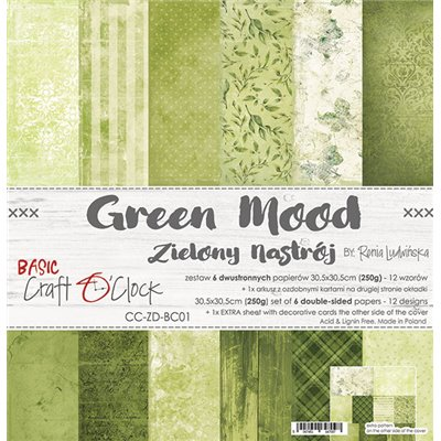 Green Mood - Basic set - papírkészlet 30,5x30,5cm