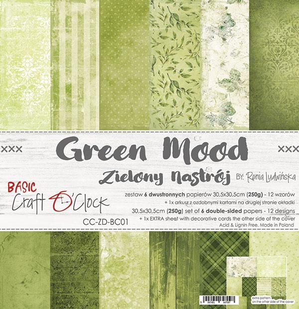 Green Mood - Basic set - papírkészlet 30,5x30,5cm