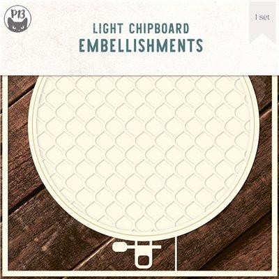 """Chipboard alap - Hímzőráma des.1 (6x6"""")"""