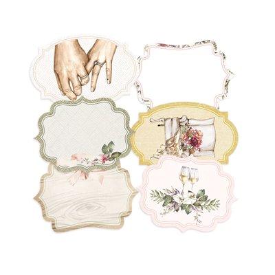 Always and Forever - dekorációs címkék 04 - 6 db