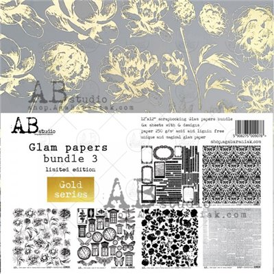 Glam paper's bundle des.3 Gold kivágóív kollekció