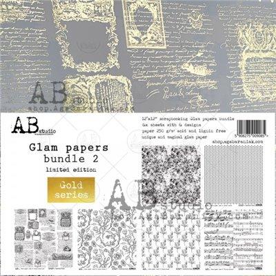 Glam paper's bundle des.2 Gold kivágóív kollekció