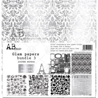 Glam paper's bundle des.3 Silver kivágóív kollekció