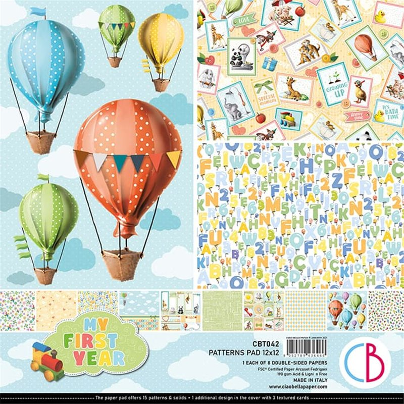 """My First Year Patterns Pad 12""""x12"""""""