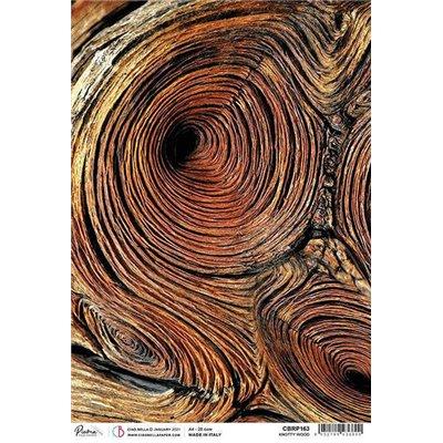 Rizspapír A4 - Knotty Wood