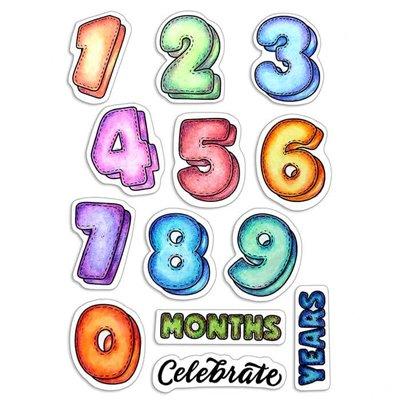 """Szilikonbélyegző szett 4""""x6""""- Baby Months & Years"""