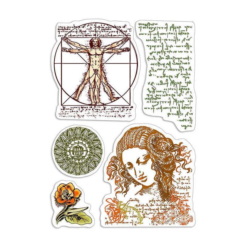 """Szilikonbélyegző szett 4""""x6""""- Codex Leonardo"""