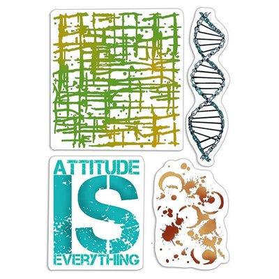 """Szilikonbélyegző szett 4""""x6""""- Attitude is Everything"""