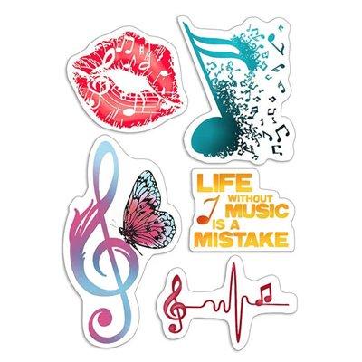"""Szilikonbélyegző szett 4""""x6""""- Music Life"""