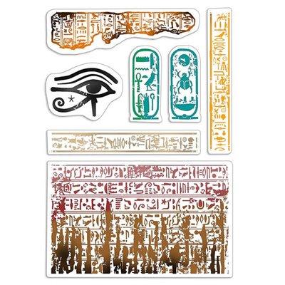 """Szilikonbélyegző szett 4""""x6""""- Walk Like an Egyptian"""