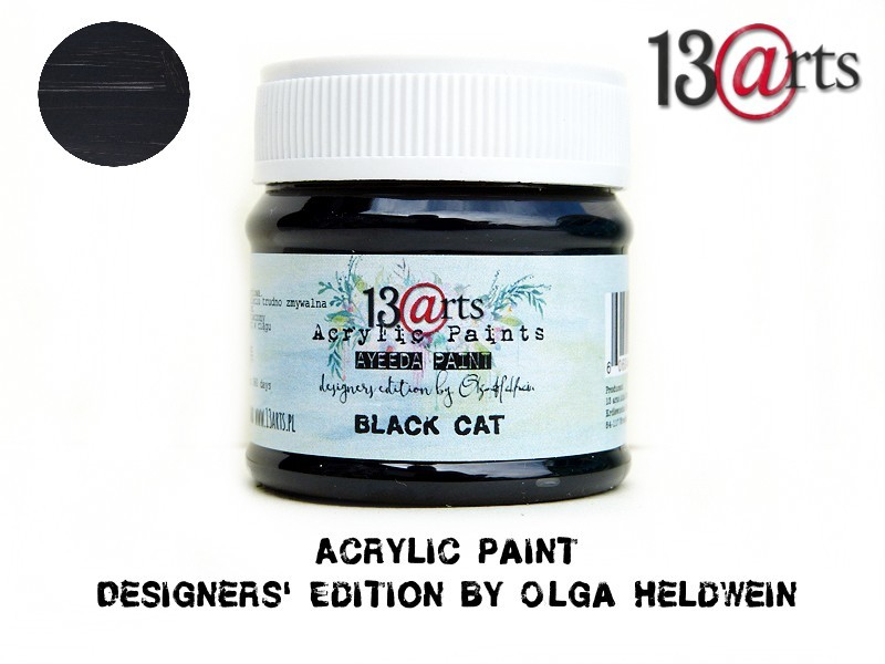 "Ayeeda Transzparens Akrilfesték - ""fekete macska"""