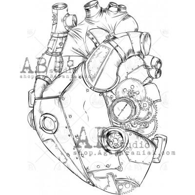 "Gumibélyegző - ID-1084 ""steampunk heart"""