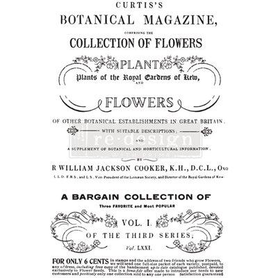Re-Design with Prima Botanical Magazine 24x35 Inch transzferfólia